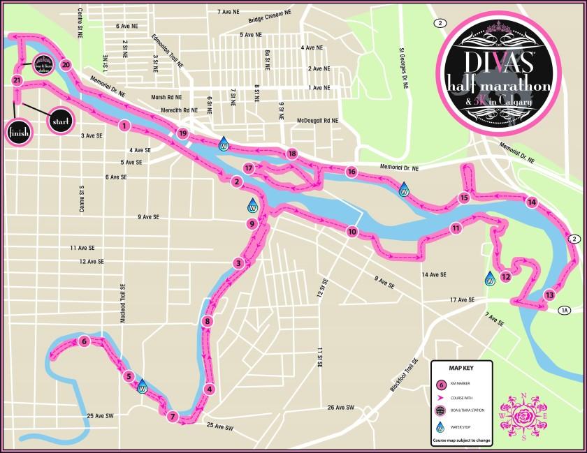 Calgary half marathon course